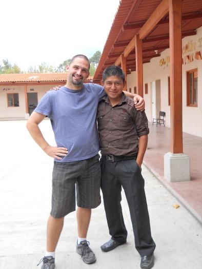 Jesse Rivers with Professor Hugo, a good friend!