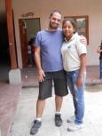 Jesse with Profesora Wanda, a good friend!