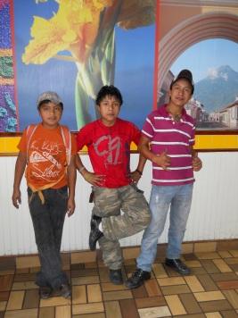Boys being boys... Juan Carlos, Gregorio, Martin
