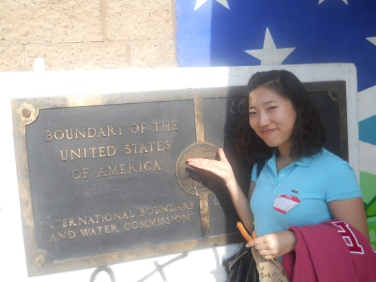 Min's first trip across the border!