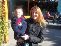 Karen Wilson with Rodolfo.