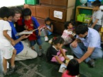 Reading with and loving on children from La Limonada slum of Guatemala City