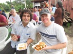 Don and Jesse, enjoy good Guatemalan food.