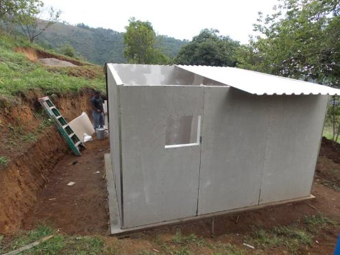 House build for families in the village of Tonajuyu.
