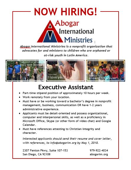 Executive Assistant Flyer