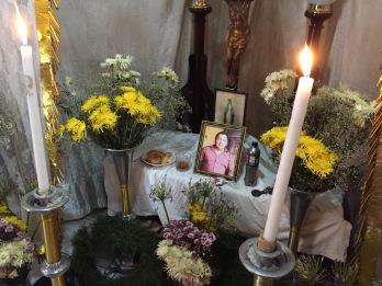 Memorial for Brenda's deceased husband.