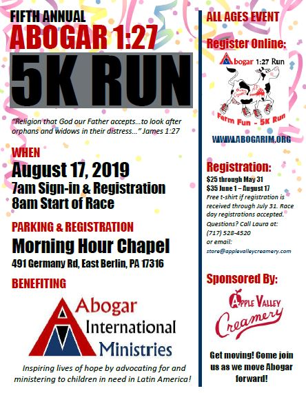 2019 5k Run Full Page Flyer